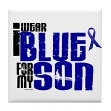 I Wear Blue For My Son 6 Tile Coaster