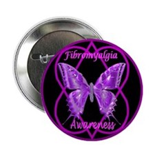 Purple Butterfly Hope-a-gram Button