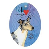 Smooth Collie Oval Ornament