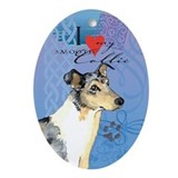 Smooth collie Oval Ornaments