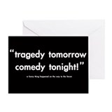 'comedy tonight!' greeting card (any occasion)