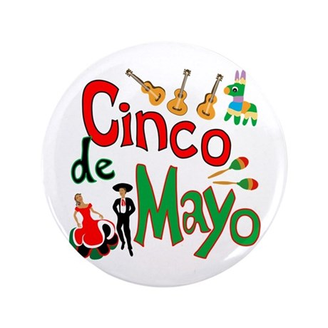 "Cinco de Mayo 3.5"" Button (100 pack)"