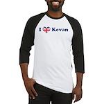 I heart Kevan Baseball Jersey