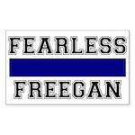 Fearless Freegan Rectangle Sticker
