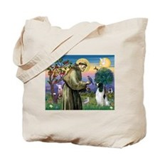 St Francis & English Springer Tote Bag