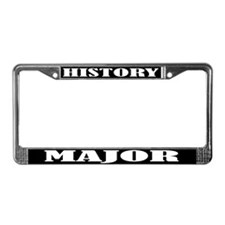 History Major License Plate Frame
