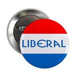 Red, White and Blue Liberal Button