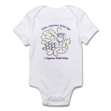 I Improve With Wine Infant Bodysuit