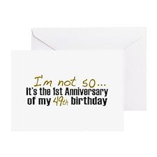 I'm not 50 (50th Birthday) Greeting Card