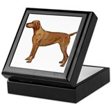 Vizsla portrait 2 Keepsake Box