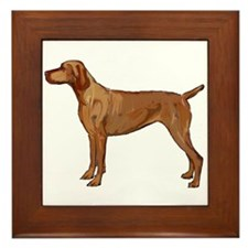 Vizsla portrait 2 Framed Tile