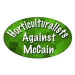 Horticulturalists Against McCain bumper sticker