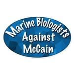 Marine Biologists Against McCain oval sticker