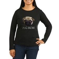 Pug Mom Long Sleeve Dark T-Shirt