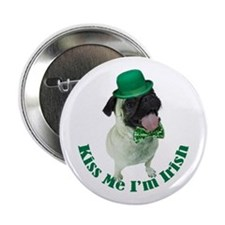 "Irish Pug 2.25"" Button"