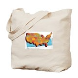 Unique Washington map Tote Bag