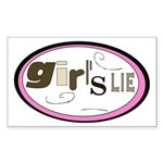 Girl's Lie Rectangle Sticker