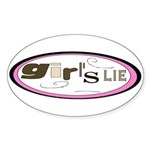 Girl's Lie Oval Sticker