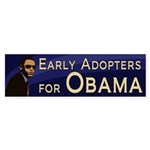 Early Adopters for Barack Obama decal