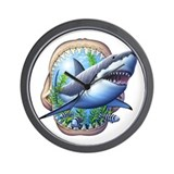 Great White 3 Wall Clock