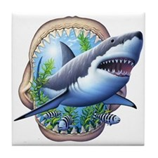 Great White 3 Tile Coaster