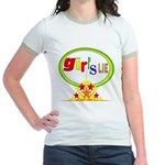 Girl's Lie Jr. Ringer T-Shirt