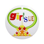 Girl's Lie Keepsake (Round)