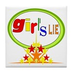Girl's Lie Tile Coaster