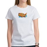 Funny Washington map Tee
