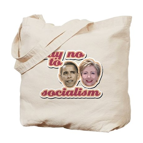 Say No To Socialism Tote Bag