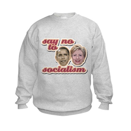 Say No To Socialism Kids Sweatshirt