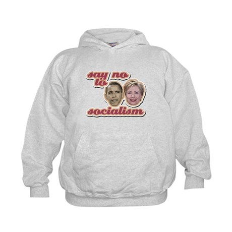 Say No To Socialism Kids Hoodie
