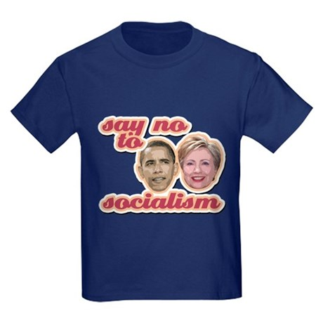 Say No To Socialism Kids Dark T-Shirt