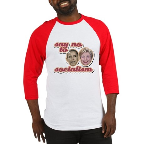 Say No To Socialism Baseball Jersey