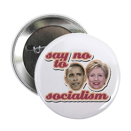 Say No To Socialism Button