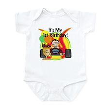Racecar First Birthday Infant Creeper