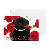 Pugs and Kisses Greeting Cards (Pk of 10)