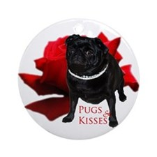 Pugs and Kisses Ornament (Round)