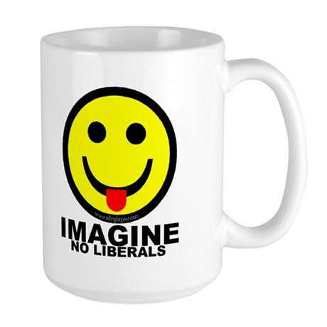 Imagine No Liberals Large Mug