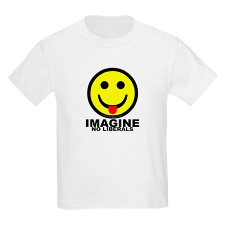Imagine No Liberals Kids Light T-Shirt