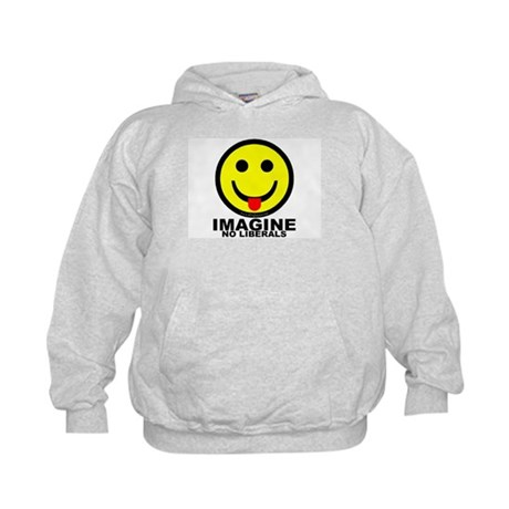 Imagine No Liberals Kids Hoodie