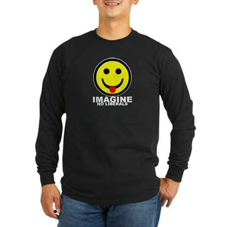 Imagine No Liberals Long Sleeve Dark T-Shirt