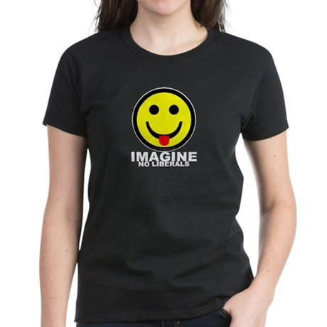 Imagine No Liberals Women's Dark T-Shirt