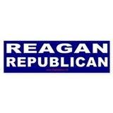Reagan Republican Bumper Car Sticker