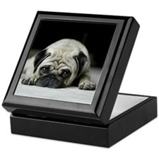Sad Pug Keepsake Box