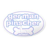 Powderpuff German Pinscher Oval Decal