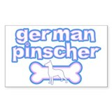 Powderpuff German Pinscher Rectangle Decal