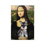 Mona Lisa's Schnauzer Puppy Rectangle Magnet (10 p