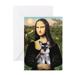 Mona Lisa's Schnauzer Puppy Greeting Card