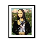 Mona Lisa's Schnauzer Puppy Framed Panel Print